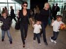 Victoria Beckham y sus hijos vuelven a Los Ángeles
