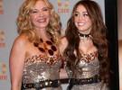 Kim Cattrall y Miley Cyrus lucen el mismo vestido en la secuela cinematográfica de Sexo en Nueva York