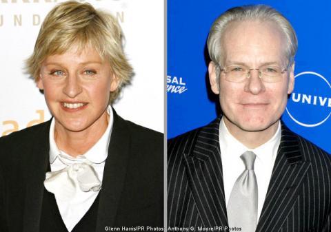 Ellen DeGeneres y Tim Gunn