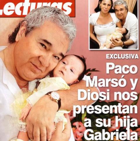 Paco Marsó presenta a su hija Gabriela