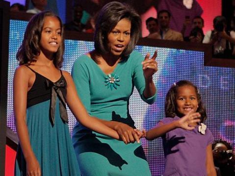 Michelle Obama pone a dieta a sus hijas, Malia y Sasha