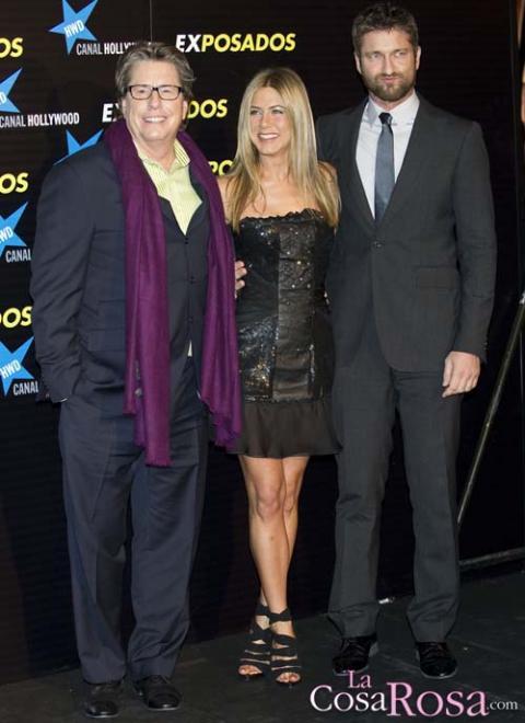 Jennifer, Gerard y Andy Tennant en Madrid