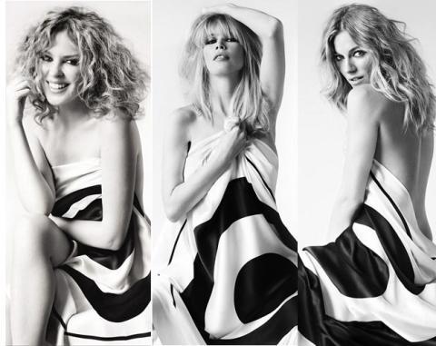 Kylie Minogue, Claudia Schiffer y Sienna Miller desnudas contra el cáncer