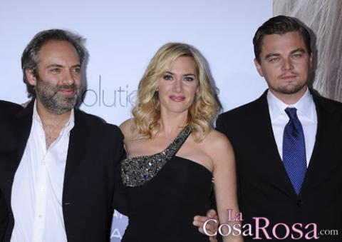 Sam Mendes, Kate Winslet y Leonardo di Caprio