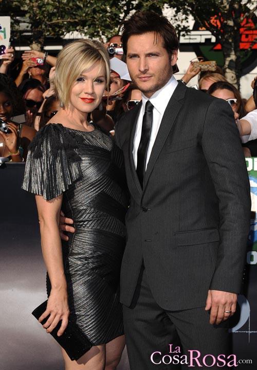 Jennie Garth y Peter Facinelli en el estreno de Eclipse en Los Ángeles
