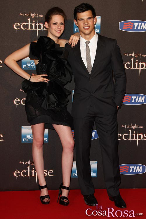 Kristen Stewart y Taylor Lautner en Roma