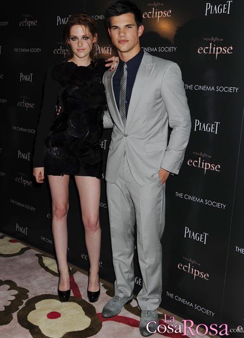 Kristen Stewart y Taylor Lautner en Nueva York