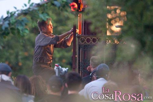 Robert Pattinson en rodaje de Water for Elephants