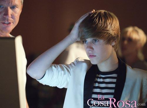 Justin Bieber en el rodaje de MTV Video Movie Awards