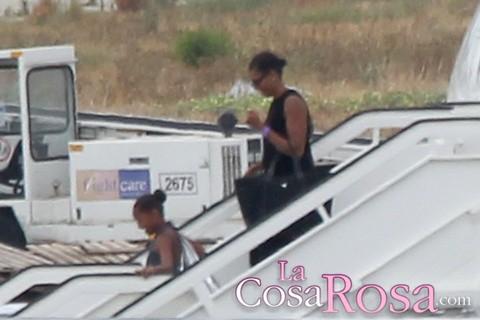 Michael Obama y su hija aterrizaron en el hotel Villa Padierna