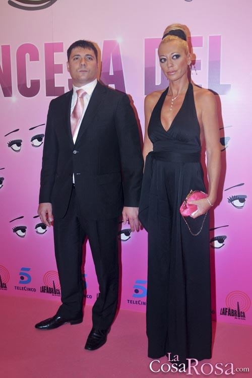 Belén Esteban y Fran Álvarez en el preestreno de La princesa del pueblo