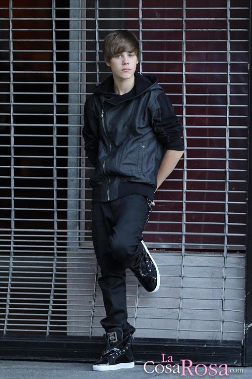 Justin Bieber grabando el vídeo de U Smile