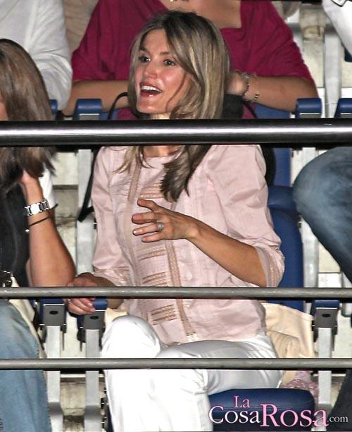 Letizia Ortiz en el concierto de Alejandro Sanz