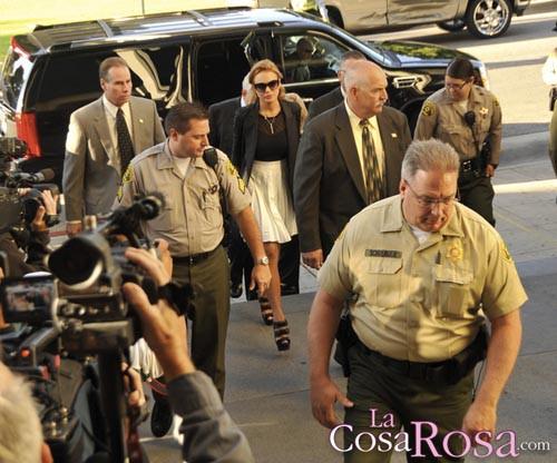 Lindsay Lohan llega al juzgado