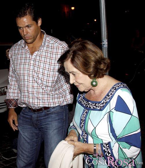 Luis Alfonso y Carmen Franco en Roma
