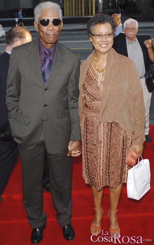 Morgan Freeman y su esposa