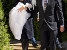 Borja Thyssen y Blanca Cuesta bautizan a Eric sin la presencia de la baronesa Thyssen