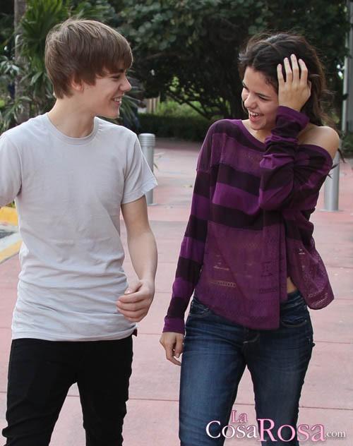 Selena Gomez y Justin Bieber en Miami