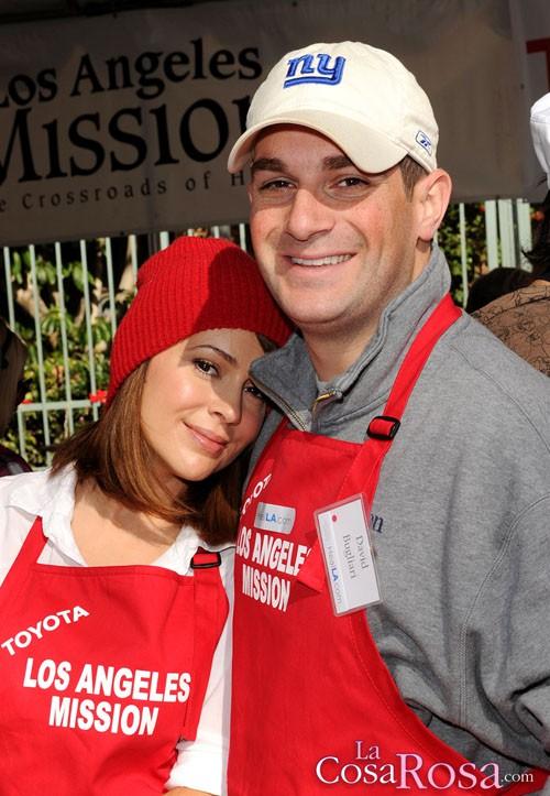 Alyssa Milano y Dave Blugiari