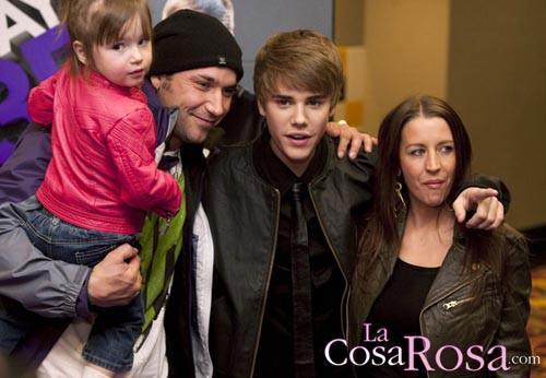 La familia de Justin Bieber