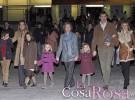 La Reina, los Príncipes de Asturias y la Infanta Elena asisten a una función del Circo del Sol
