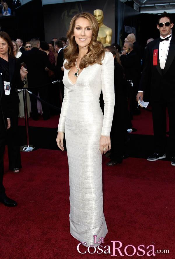 Celine Dion en la gala de los Oscar del año 2011
