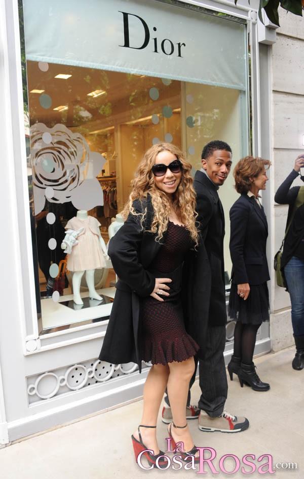 Mariah Carey y Nick Cannon en París