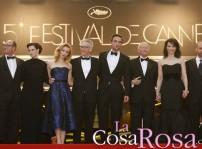 Robert Pattinson con sus compañeros en Cosmopolis