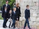 La infanta Cristina y sus hijos acuden al funeral de Juan María Urdangarin