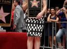 Scarlett Johannson recibe su estrella en el Paseo de la Fama de Hollywood