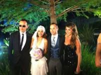 Andrés Iniesta y Anna Ortiz con Ruth Jiménez y Risto Mejide