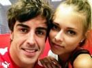 Fernando Alonso cuelga fotos con Dasha Kapustina en Twitter