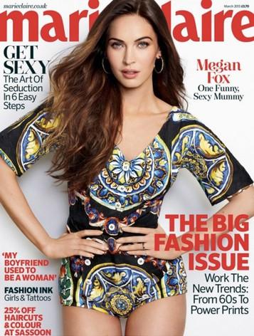 Megan Fox, feliz en la portada de Marie Claire