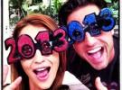 Paula y David Bustamante dan la bienvenida a 2013