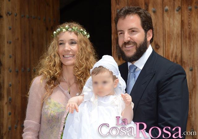 Blanca y Borja bautizan a su tercer hijo