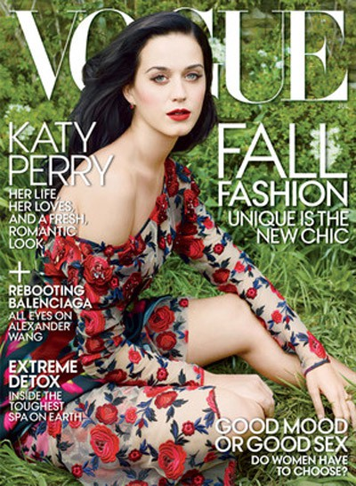 Katy Perry habla sobre su ruptura con Russell Brand y su amor a John Mayer en Vogue
