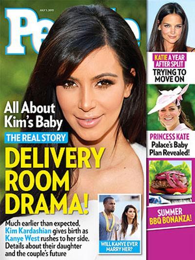 El dramático parto de Kim Kardashian