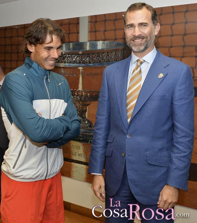 Felipe de Borbón presencia la octava victoria de Rafa Nadal en Roland Garros