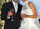 Xavi Hernández se casa con Nuria Cunillera en Blanes