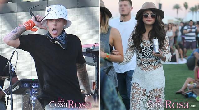 Justin Bieber y Selena Gomez, juntos en Coachella