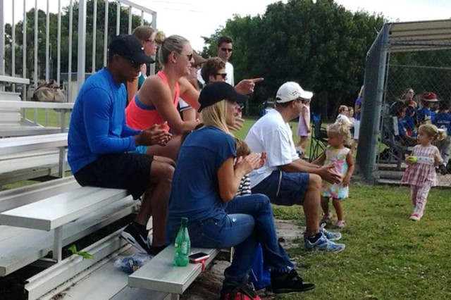 EXCLUSIVE: Tiger Woods and Lindsey Vonn and ex wife Elin Nordegren watching Tee ball game