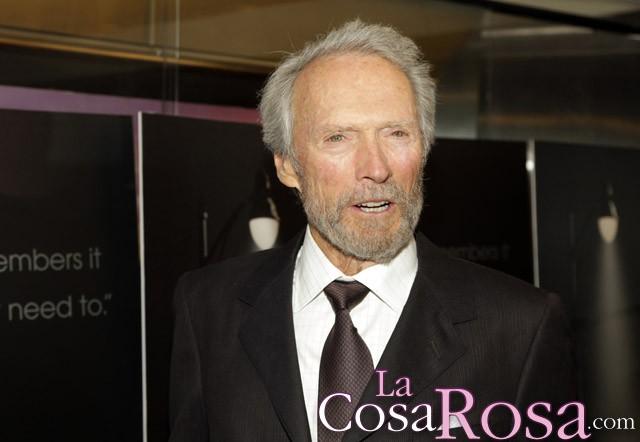 Clint Eastwood sale con Christina Sandera