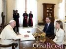 Felipe VI visita al Papa Francisco en su primer viaje oficial