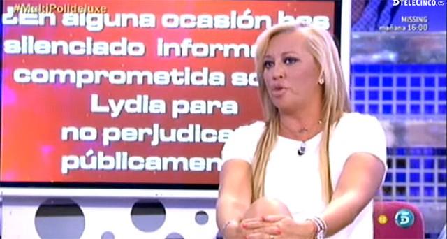 Belén Esteban conoce información comprometida sobre Lydia Lozano