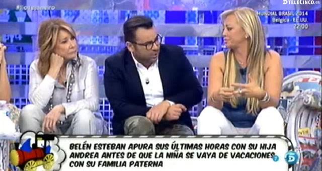 Belén Esteban habla sobre las vacaciones de Andreíta en Ambiciones