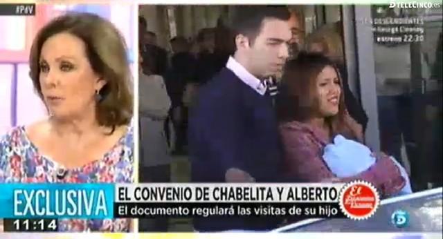 Los abogados de Chabelita redactan un convenio para regular las visitas a su hijo
