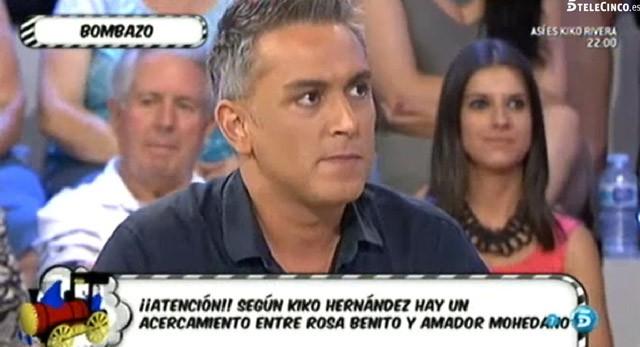 Kiko Hernández asegura que existe un acercamiento entre Rosa Benito y Amador Mohedano