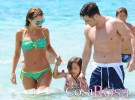 Paula Echevarría, David Bustamante y Daniella, de vacaciones en Ibiza