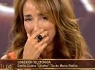 María Patiño se emociona el día de su cumpleaños en Sálvame deluxe