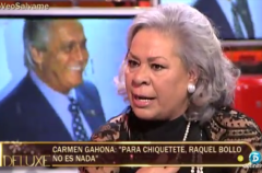Carmen Gahona, muy suelta en Sálvame deluxe